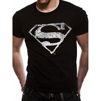 Superman Unisex Adult Distressed T-Shirt