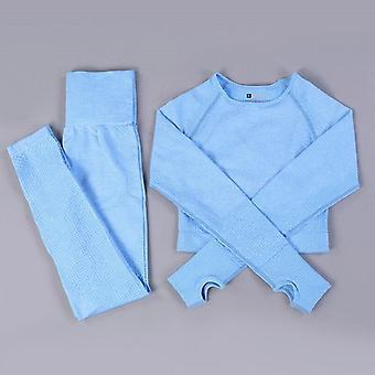 Fără sudură Yoga Set Fitness Sport Costume Gym Set Îmbrăcăminte Crop Top Shirts High