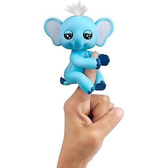 WowWee Fingerlings Interactive Baby Elephant Grey Blue Toy