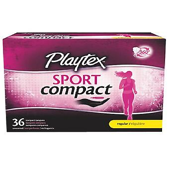 Playtex Sport Compact, 36 Compact Unscented Tampons, Regulär