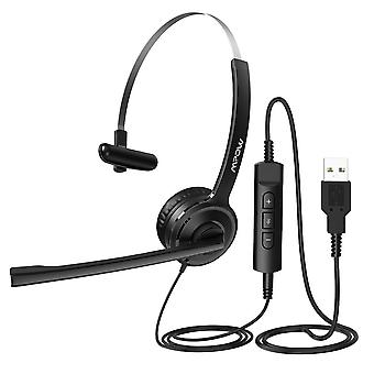 Wired Flexible Rotation Stereo Computer Headset For Pc/laptop