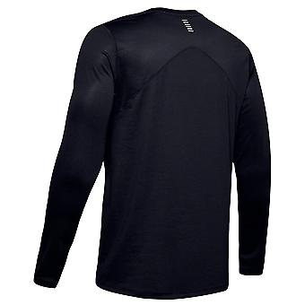 Under Armour Mens Qualifier Long Sleeve Top Black T-Shirt 1342930 001