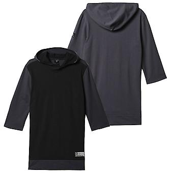 Adidas Basketball 3/4 League Hoodie Pullover Fitness Top Black AX8412 RW41