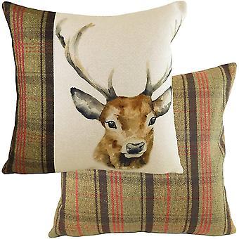 Evans Lichfield Hunter Stag Cushion Cover