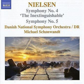 C. Nielsen - Nielsen: Symphonies Nos. 4 & 5 [CD] USA import