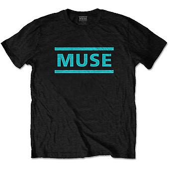 Muse Light Blue Logo Official Tee T-Shirt Unisex