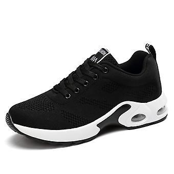 Femmes & s Air Cushion Sneakers Shoes Black