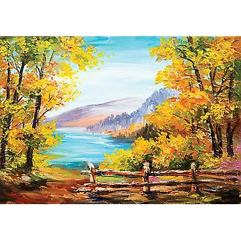 Fondo de pantalla Mural óleo pintado colorido Aut
