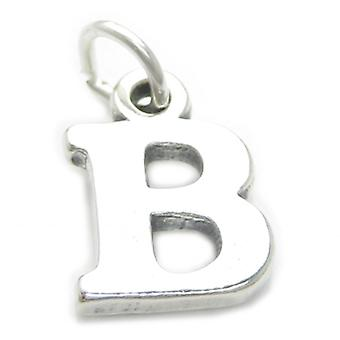 Letter B Initial Sterling Silver Charm .925 X 1 Letters Charms Pendant - 4228