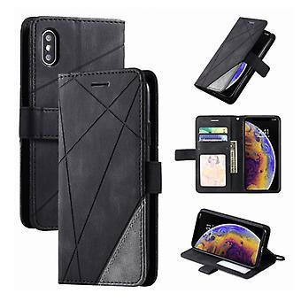 Material certificado® Xiaomi Mi 11 Flip Case - Cartera de cuero PU cuero cartera cubierta cas negro