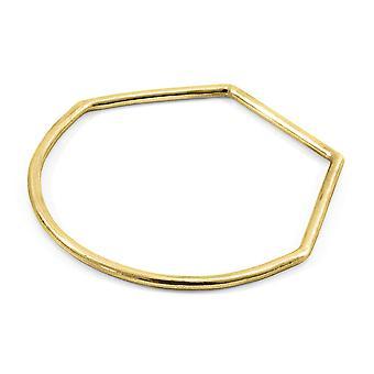 ANCHOR & الطاقم رو نصف دائرة هندسية 9ct الذهب الأصفر البنغالية