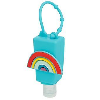 Desinfetante e suporte para mão de gel arco-íris