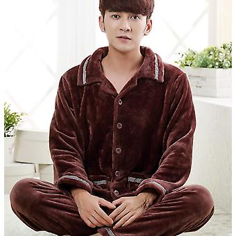 Winter Thick Warm Flannel Pajamas Set