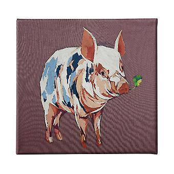 Panel multicolor de cerdo poliéster, madera, L60xP3xA60 cm