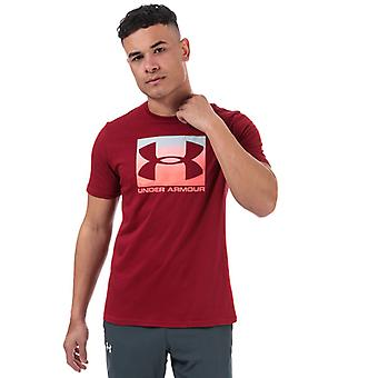 T-shirt UA Boxed Sportstyle Under Armour uomo in rosso