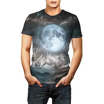 3d Drukowane Universe Starry Sky Astronaut T Shirt Mężczyźni / kobiety Lato krótki rękaw
