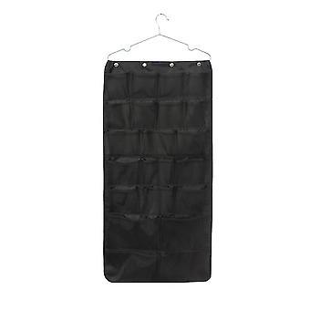 Oxford cloth double-sided visual mesh pocket storage hanging bag 42 grid