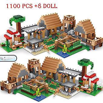 互換性のあるビルディングブロック, 山の洞窟, 村, 都市ツリーハウス付き