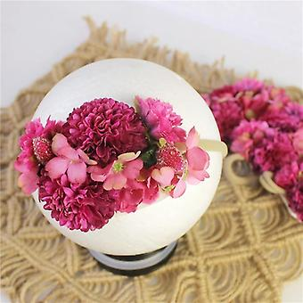Princess Flower Headband, Newborn Baby,, Artificial Floral Photography Prop,