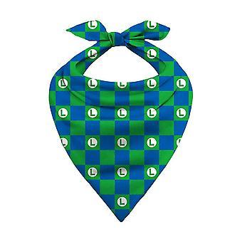 Super Mario Luigi Logo Pattern Bandana