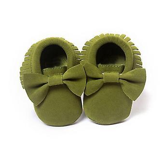 Patrón fringe, zapato de sol suave para bebés recién nacidos