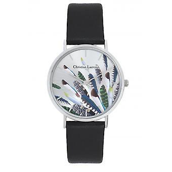 Assista à mulher Christian Lacroix Relógios CLW310 - Couro Preto