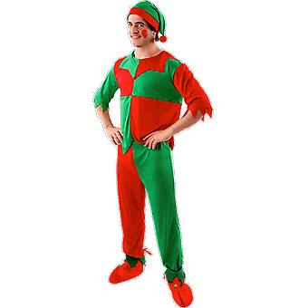 Orion Costumes Mens Green And Red Christmas Elf Fancy Dress Costume