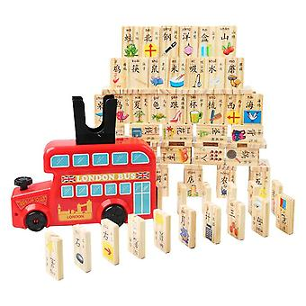 Childrens Train Chinese Character Learning Blocks