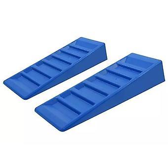 ProPlus 2-pcs. Motorhome Leveller Set 75 mm Plastic Blue