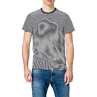 Tommy Jeans Tjm Tommy Classics Stripe Tee T-Shirt, Twilight Navy/White, L Man