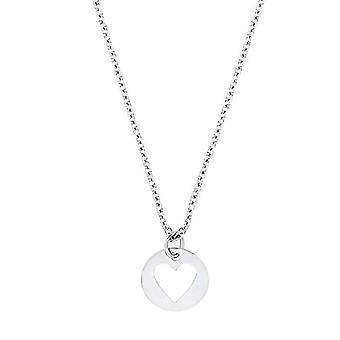 Amor - Halskæde med vedhæng til kvinder, rustfrit stål, motiv: hjerte