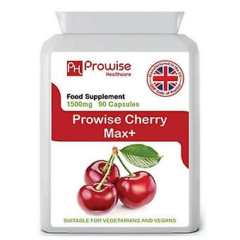 Cherry Max 1500mg 90 Capsules | Suitable For Vegetarians & Vegans | Made In UK by Prowise