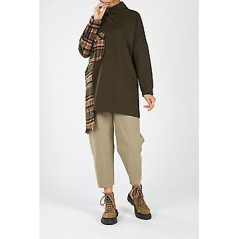 Plaid Pocket Sweatshirt Tunic