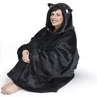 Super Soft Warm Fit Winter Lazy Oversized Hoodie Sweatshirt(Black)