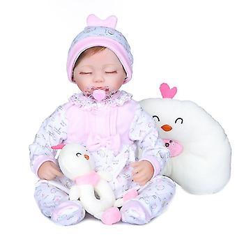 40Cm szilikon újjászületett realista divat baba babák puha vinil lányok születésnapi karácsonyi ajándék játékok