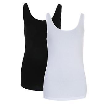 Women's Vero Moda Maxi 2 Pack Soft Tank Top in White