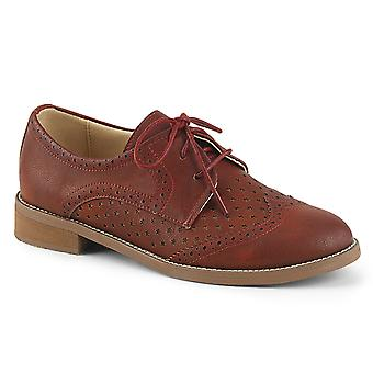 Pin Women's Shoes Up Cherry Red Faux Leather