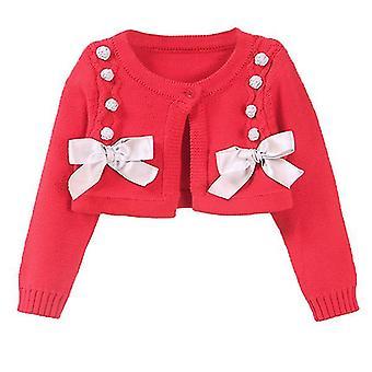 Maluch Dziewczyny Wiosna Spadek Krótki Odzież wierzchnia dzianinowy sweter na urodziny 100cm czarny