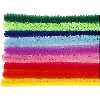 25 Bright Colour 9mm Chunky Pipe Cleaners | Chenille Stengels