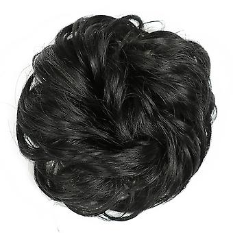 3 kpl synteettinen sotkuinen Pulla Chignon Donitsi Hiukset Pulla Pad Elastinen Hius Köysi Kuminauha Hiustenpidennys
