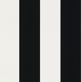 Rasch Portfolio Stripe Svart Vit 286694