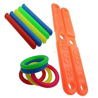 Outdoor Sports Hoop Ring Toss Quoits Toy - Cross Garden Games Pool