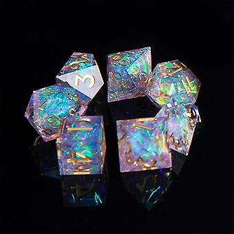 Dnd Role Playing Game-dice Handgemaakte 7-die Polyhedral Mirror Dice Set