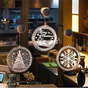 Studio light flash accessories christmas window lights fairy light xmas decoration for indoor snowflake