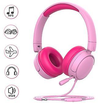 Lightweight Foldable Kids Headphone(Pink)