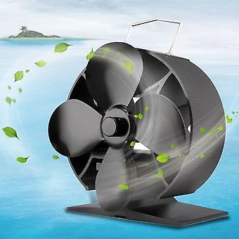 Polttoainetta säästävät 4 terää Lämpökäyttöinen liesi tuuletin Metalli kannettava liesi tuuletin Puhallin
