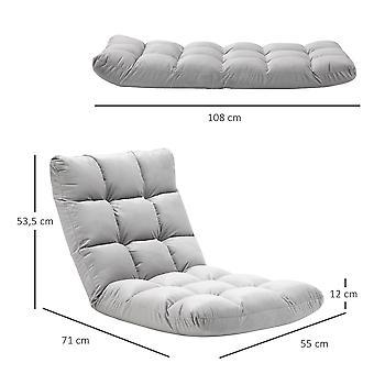 מתקפל כיסא ספה רצפה עצלה כיסא טרקלין מושב ספה מיטה לסלון, משרד ביתי, מרפסת, מתנה אפורה