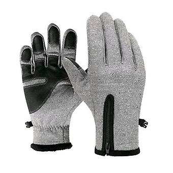 Gants imperméables d'hiver de sports extérieurs thermiques