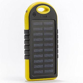 Solar-Ladegerät, 5000mah Tragbare Solar Power Bank wasserdicht/schocksicher/staubdicht Dual Usb Batterie Bank kompatibel