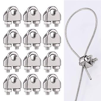 Hardware Wire Rope Clamp U-shaped Clamp, Suitable For Fence Cable Clamp (12 Pieces)